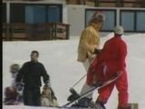 François l'embrouille prend des cours de ski